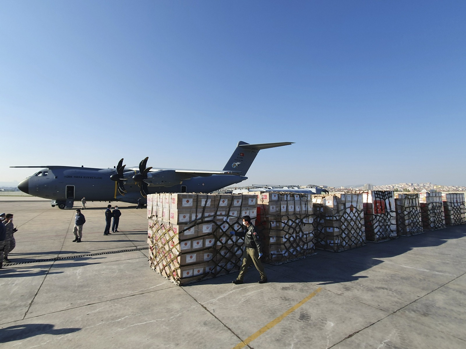 Turkey sends medical equipment to help US fight virus
