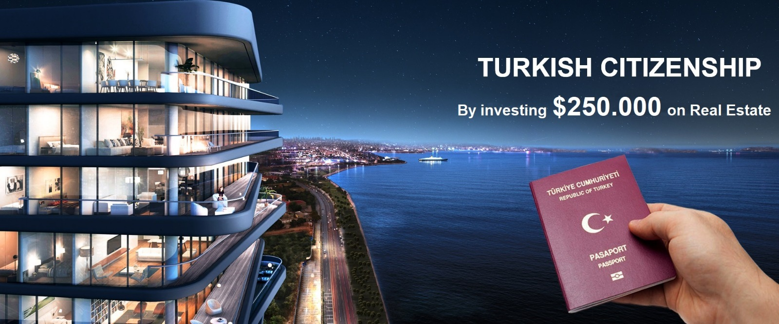 الحصول على الجنسية التركية بشكل سريع ومباشر عن طريق الاستثمار